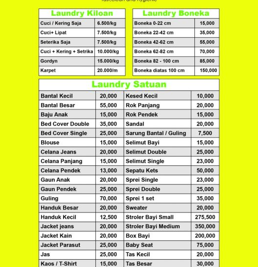Page SERVICE price list a5 01